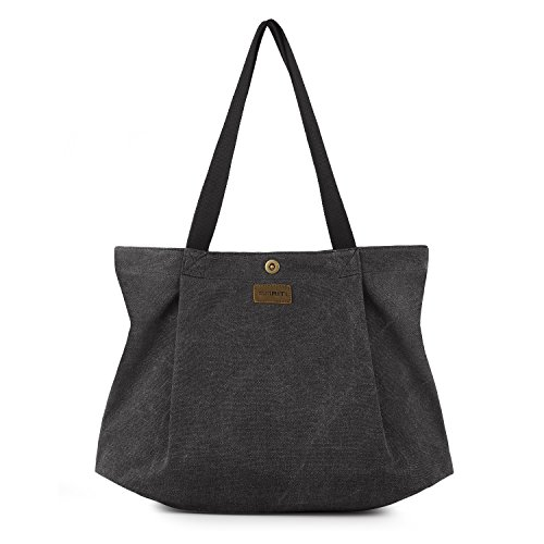 SMRITI-Canvas-Tote-Bag-for-School-Work-Travel-and-Shopping-Black