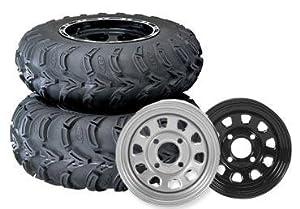 ITP Mud Lite AT, Delta Steel, Tire/Wheel Kit - 25x8x12 - Black 44833