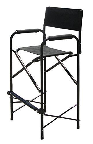 Impact Canopy Tall Directors Chair Black Aluminum Folding Chair Home Garden L