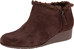 Cole Haan Women\'s Callie SHL Rain Boot, Chestnut Suede/Shearling, 9 B US