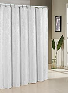 Duck River Textiles Parson Jacquard Shower Curtain White Home Kitchen