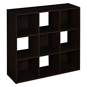 ClosetMaid 893700 9-Cube Laminate Organizer, Espresso