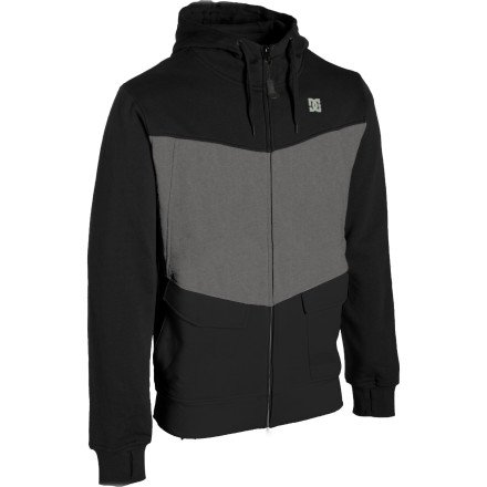 DC Kupress Full-Zip Hooded Sweatshirt - Men's Black/Shadow, S