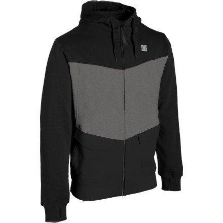 DC Kupress Full-Zip Hooded Sweatshirt - Men's Black/Shadow, L