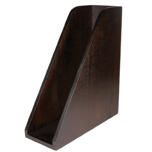 Artistic Sustainable Bamboo Curves Magazine Holder File, Espresso Brown (ART11004C)