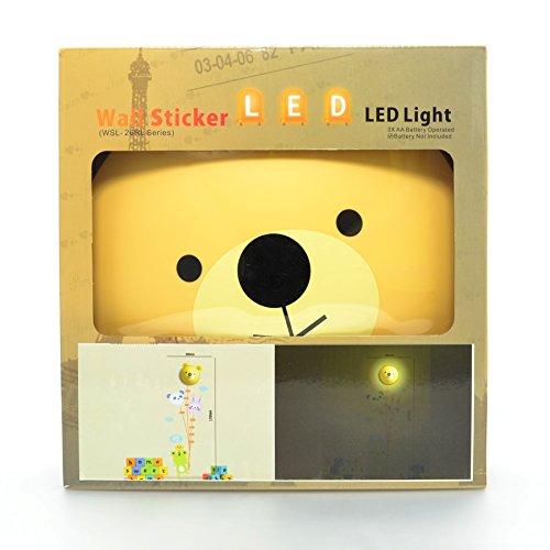 Bear Wall Night Light & Height Chart Sticker