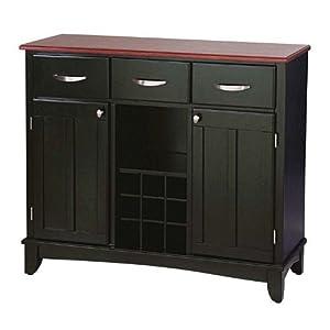 Amazon.com - Home Styles Medium Cherry Wood Top Buffet