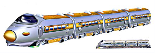 28 Inches Power Train Motorized Engine Toddler Playset With Train Sounds (With 3 Train Cars Attached)