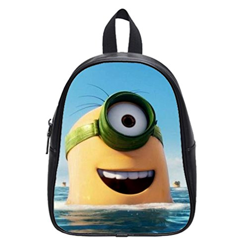 DONGMEN-Despicable-Me-Minions-Pu-Leather-Kids-Small-Zip-School-Book-BagsBackpacks