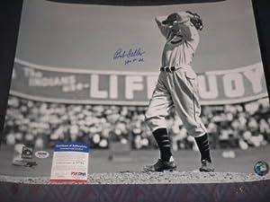 BOB FELLER Signed 16x20 Photo HOF PSA DNA Cleveland Indians Autographed