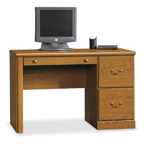 Carolina Oak Single Pedestal Desk Orchard Hills Collection by Sauder Office Furniture - 402174