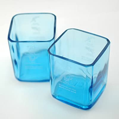 BottleHood - Bombay Sapphire Rocks Glass (2) - Repurposed Glassware