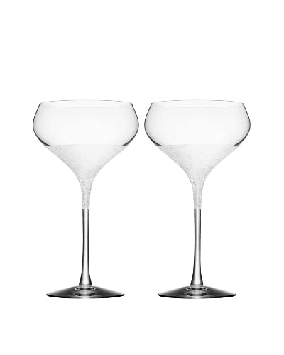 Orrefors Pair of Divine Champagne Coupes