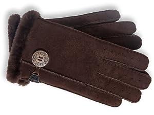 Ugg Australia Ladies Shearling Classic Bailey Glove (Chocolate Brown/Large)
