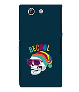printtech Cool Skull Back Case Cover for Sony Xperia Z4 Mini::Sony Xperia Z4 Compact