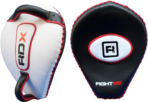 Auth RDX Cobra Focus Pad Mitts,Boxing MMA Kick Shield Punch Gloves Muay Thai Bag