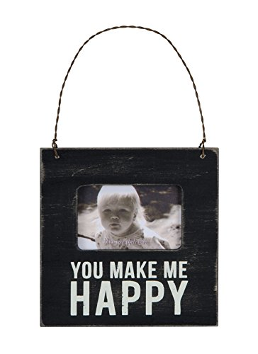 Primitives by Kathy Mini Box Sign Frame, Make Me Happy, 4.5 Square Inch - 1
