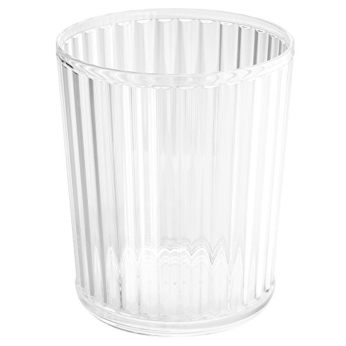 InterDesign Alston Wastebasket Trash Can, Clear