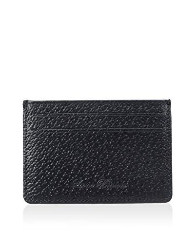 Leone Braconi Men's Britain Leather Card Case, Bright Royal
