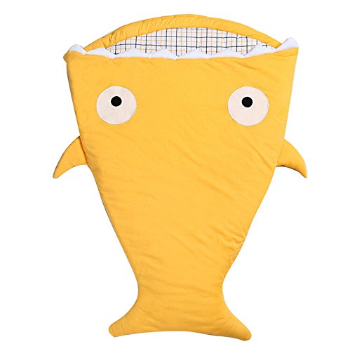 fantastic_008 Shark Bunting Baby Sleeping Bag Used in Outdoor Stroller or air-conditioned room Summer/Winter Dual Use (Yellow) (Shark Sack compare prices)