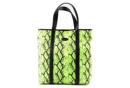 Just Cavalli borsa donna a spalla shopping nylon nuova giallo