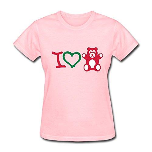 Designed Youth T-Shirt Particular Bear Xl Pink