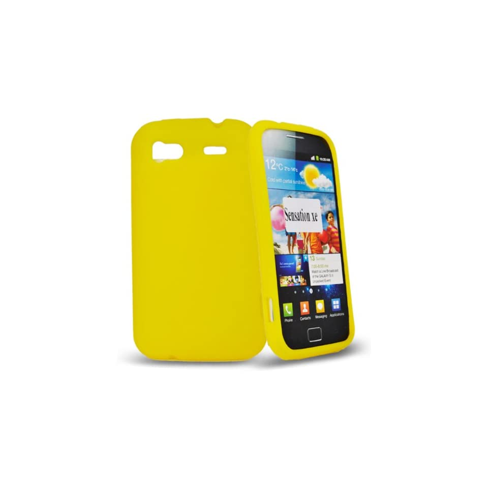 Mobile Palace  yellow silicone case cover for htc sensation xe