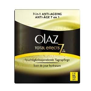 Olaz - Total Effects - Crème de jour soin anti-âge avec filtre UV - Pot de 50 ml