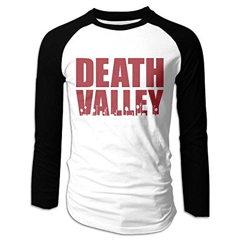 AIJFW Death Valley Letter Men's Crewneck Raglan Baseball T-Shirt S (Viking Stick Blender compare prices)