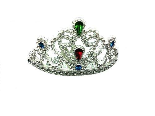 Prinzessin Diadem, mit Kamm, Silber mit 4 Steinen