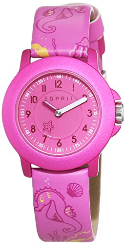 ESPRIT-Reloj unisex Mar Parque ES103454012pantalla analógica y piel), color rosa