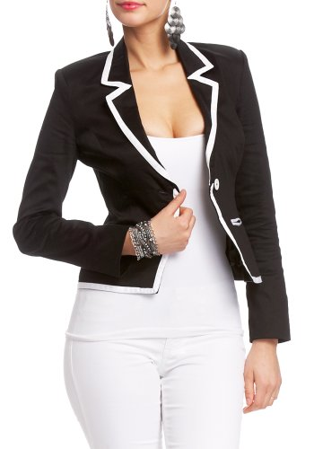 White Tipped Blazer 2b Jackets