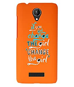 KolorEdge Back Cover For Micromax Canvas Spark Q380 - Orange (1522-Ke15134MmxQ380Orange3D)