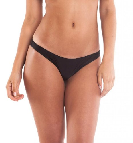Coqueta Sweet Heart Brazilian Bikini Bottom Hipster Swimsuit BLACK-medium