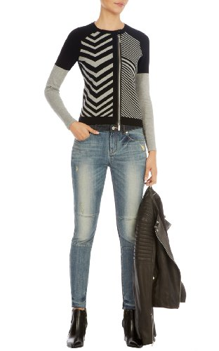 Graphic chevron knit cardigan