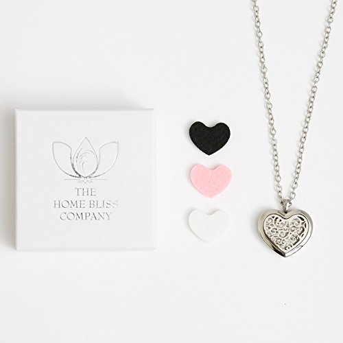 *New* Bliss Diffuser Necklace Aromatherapy Gift Set - 316L Surgical Grade Stainless Steel Hypo-Allergenic Locket Pendant with 24