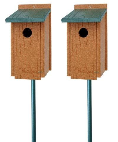 Audubon Premium Bluebird House Package with Poles (Audubon Bluebird House compare prices)
