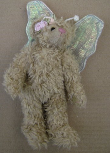 TY Fairy Teddy Bear Pushed Stuffed Animal