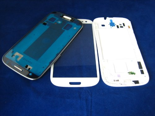 Samsung Galaxy S3 Siii Gt-I9300 White Full Cover Housing + Front Glass Screen Mobile Phone Repair Part Replacement