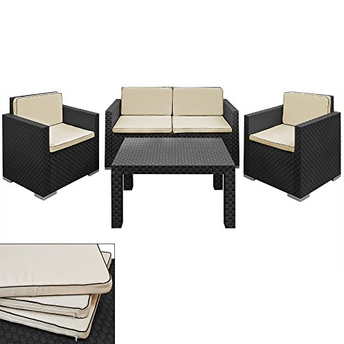 Lounge-Set-in-Rattan-Optik-Sitzgruppe-Sitzgarnitur-Gartengarnitur-Gartenset