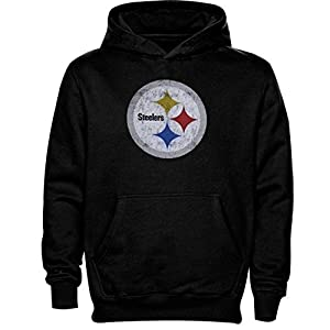 Pittsburgh Steelers Youth Distressed Team Logo Pullover Hoody