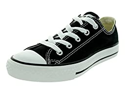Converse Kids\'s CONVERSE CHUCK TAYLOR ALL STAR YTHS OXFORD BASKETBALL SHOES 13.5 (BLACK)