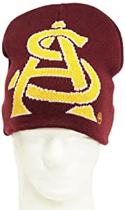 NCAA Arizona State Sun Devils Boy's Jacquard Knit Hat, Maroon/Gold