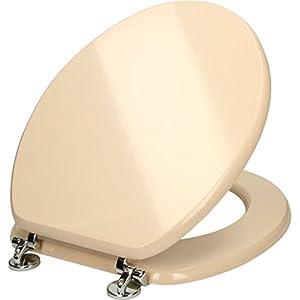 Ceramica Soft Cream MDF Wooden Toilet Seat Kitchen Home