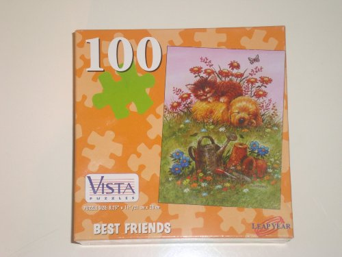 "Cheap Leap Year Publishing LLC ""Best Friends"" 100 Piece Dog and Cat Puzzle (B002NWS4RO)"