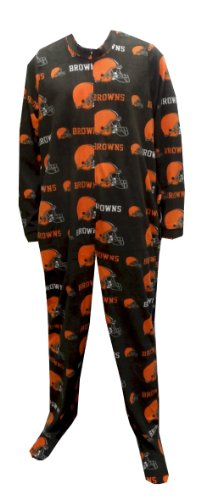 Cleveland Browns Guys Onesie Footie Pajama for men (Large) at Amazon.com
