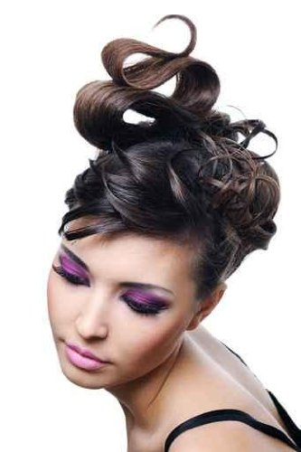 "Woman with Fashion Hairstyle and Bright Stylish Make-up - 72""H x 48""W - Peel and Stick Wall Decal by Wallmonkeys"