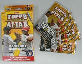 2010 Topps Attax Special Deal! 2010 Topps Attax Player Starter Box (21 Cards + Play Mat) Plus SIX (6) Factory Sealed 2010 Topps Attax Booster Packs