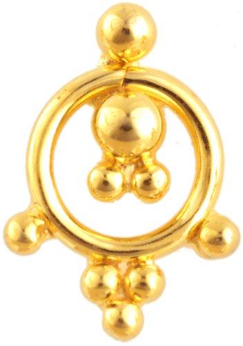 Designer Nose Stud - 18 K Gold