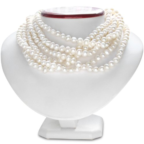100 Inch Endless Hand Knotted Dramatic Pearl Necklace